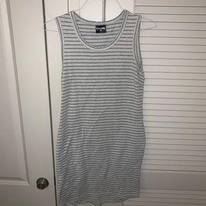 striped cotton casual dress